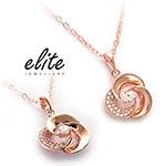 Elite伊麗珠寶 925純銀項鍊 - 圓舞曲【玫瑰金】