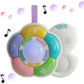 【多功能】花型音樂鈴(床邊音樂/床邊玩具/掛床玩具)