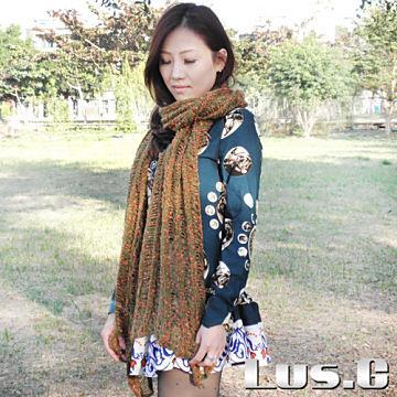 【Lus.G】冬日風鈴草針織圍巾