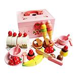 草莓甜心派對木製玩具家家酒組 附收納箱