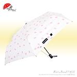 緞帶點點-自動傘(淺米白) /防風傘抗UV傘陽傘洋傘雨傘折傘