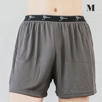 吸濕排汗 - 透氣平口褲-男-深灰-M