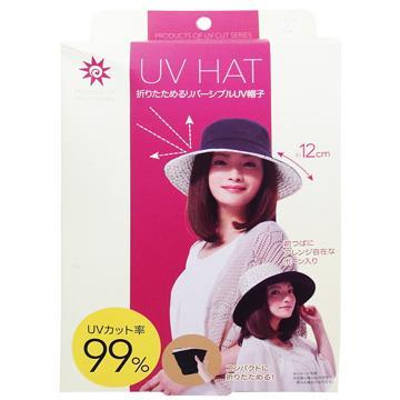 日本雙面花漾抗UV防曬遮陽帽