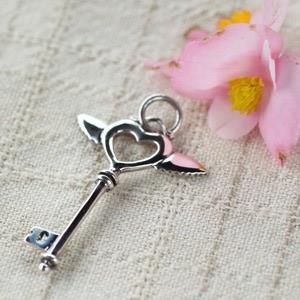 月色銀光925純銀墜子‧鑰匙