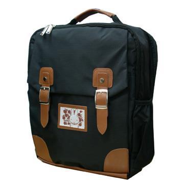【Miffy米飛兔】台灣製造學院風護脊書包-氣質黑