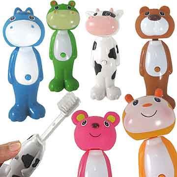 可愛動物自動牙刷6入(款式隨機)