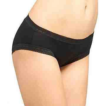【CK】女時尚彈性花邊比基尼黑色平角內著3件組
