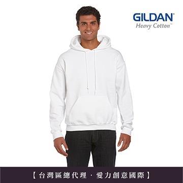 GILDAN 總代理-100%美國棉~亞規連帽T恤~白