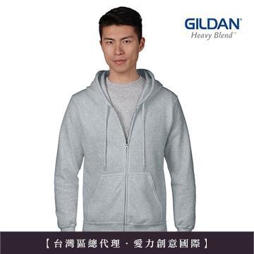 GILDAN 總代理-100%美國棉~亞規連帽拉練外套~麻灰