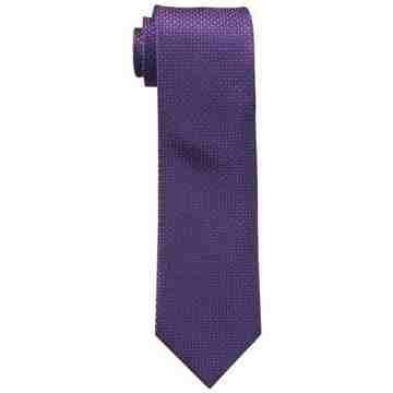 【Calvin Klein】男時尚Steel Micro莓果色菱形圖案真絲領帶