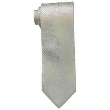 【Calvin Klein】男時尚Steel Micro香檳褐菱形圖案真絲領帶