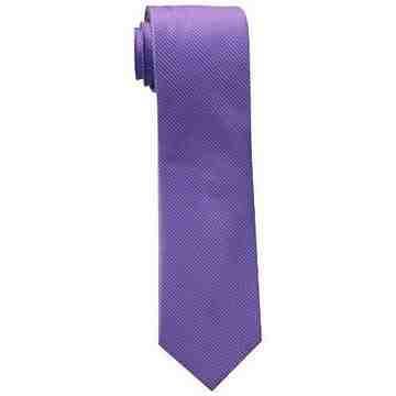 【Calvin Klein】男時尚Steel Micro B罌粟色格圖紋真絲領帶
