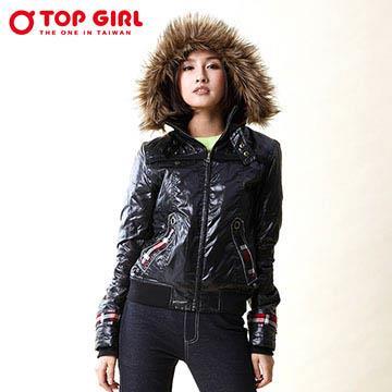 TOP GIRL 連帽3M舖棉外套 (神秘黑)