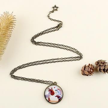 親愛的聖誕小鹿.古銅造型毛衣鍊