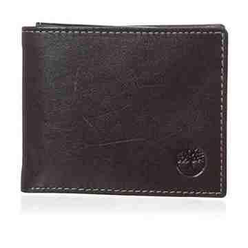 Timberland 2015男時尚Shiny光澤雙折黑褐色皮夾