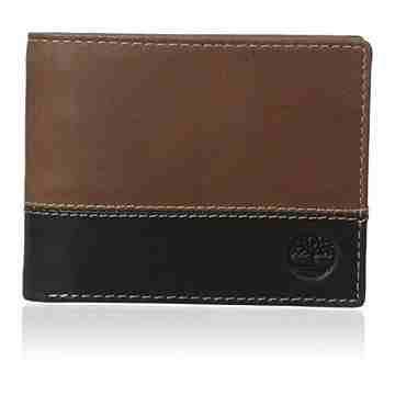 Timberland 2015男時尚Hunter黑棕雙色雙折色皮夾