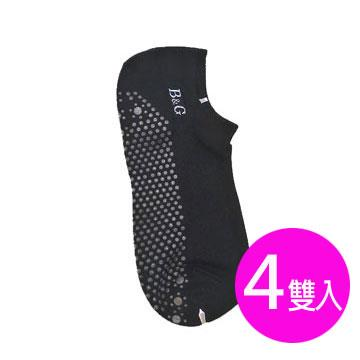 【京美】能量健康按摩襪(船型黑)4雙入(F)
