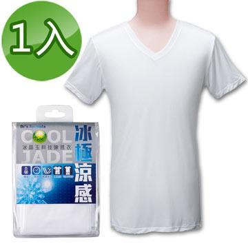台塑生醫Dr's Formula冰晶玉科技涼感衣(男款短袖-白色)