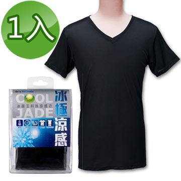 台塑生醫Dr's Formula冰晶玉科技涼感衣(男款短袖-黑色)