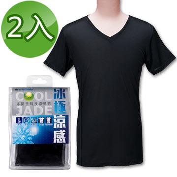 台塑生醫Dr's Formula冰晶玉科技涼感衣(男款短袖-黑色)2件入