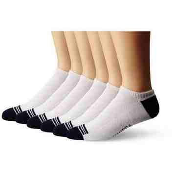 NAUTICA 2016男時尚Core白色低切運動短襪6件組