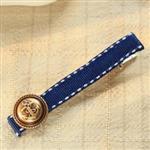 文青風海軍藍髮夾2入