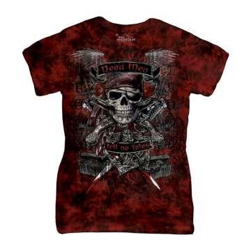 【摩達客】美國進口The Mountain 骷髏王 (預購) 短袖女版T恤精梳棉環保染