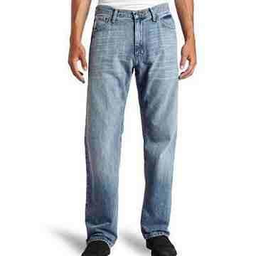 NAUTICA 2016男時尚寬鬆輕洗藍褪色牛仔褲