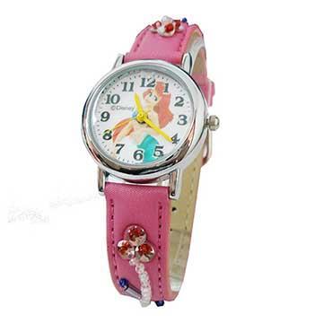 【迪士尼】DISNEY人魚公主繡花卡通錶兒童錶