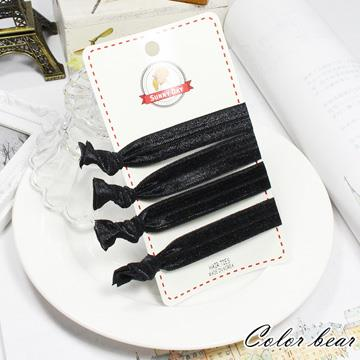 【卡樂熊】韓版百搭純黑色彈力兩用手環髮圈