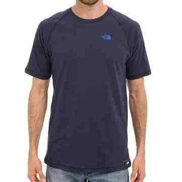 【The North Face】2016男時尚插肩式藍石楠色圓領短袖ㄒ恤