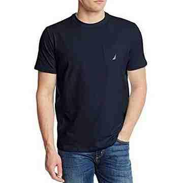 NAUTICA 2016男時尚帆標口帶款寶藍色短袖圓領ㄒ恤