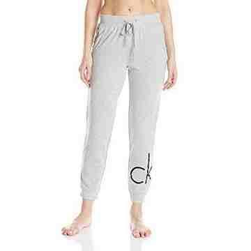 【CK】2016女時尚灰色標誌九分鬆緊帶睡褲