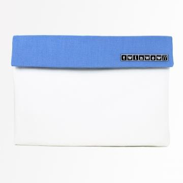 twinwow - 時尚筆記 - 細緻質感平板包 - 玫瑰白藍