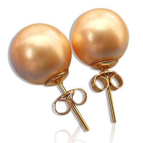 【小樂珠寶】搭配必備-蜜糖甜心---頂級3A南洋深海貝珍珠耳環