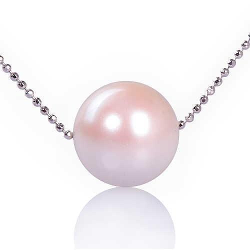 【小樂珠寶】搶眼單品,甜美魅力---頂級3A南洋深海貝珍珠墬鍊