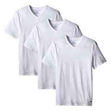 【Tommy Hilfiger】2016男時尚品味V領白色內衣3件組