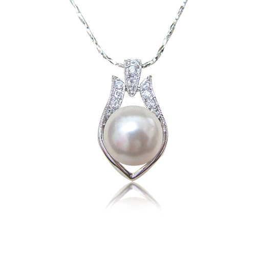 【小樂珠寶】妝點浪漫必備單品---頂級3A南洋深海貝珍珠墬鍊