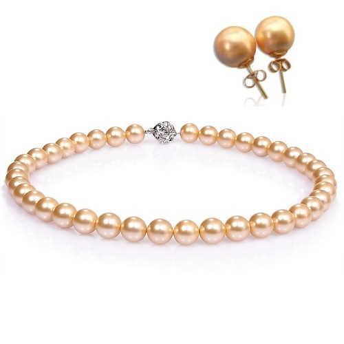 【小樂珠寶】率性和甜美一次擁有---頂級3A南洋深海貝珍珠套