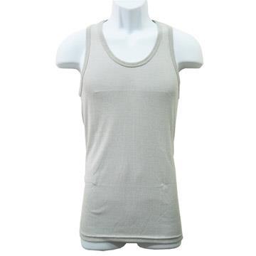 竹炭纖維背心-白色/淺灰×4件組