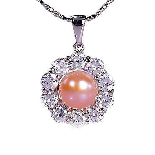 【小樂珠寶】甜美清新女孩氣息---頂級天然珍珠墬鍊
