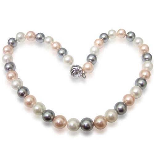 【小樂珠寶】低調中不失奢華---頂級3A南洋深海貝珍珠項鍊