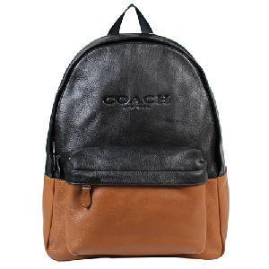 COACH 雙色全皮電腦男包/後背包