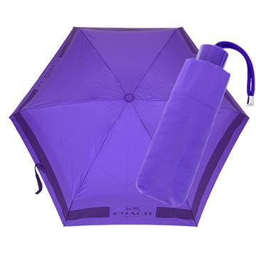 COACH 輕量攜帶型雨傘(紫色)