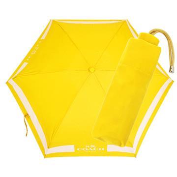 COACH 輕量攜帶型雨傘(黃色)