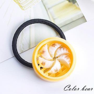 【卡樂熊】日韓仿真美味中式蒸籠造型髮束-水晶餃