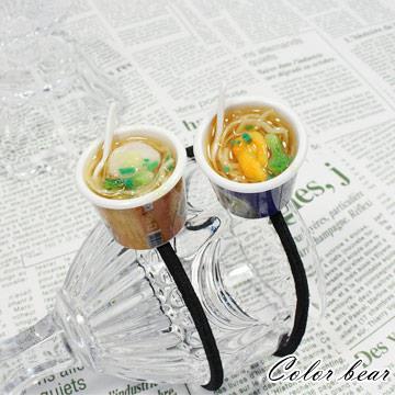 【卡樂熊】日韓趣味仿真杯麵造型O束髮束-鮮蝦麵