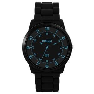 日本腕錶AMPM 經典黑潮B系列 - 黑藍海