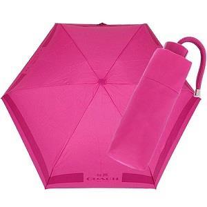 COACH 輕量攜帶型雨傘-桃紅(現貨+預購)