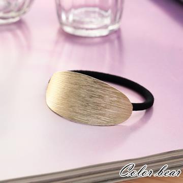 【卡樂熊】幾何水波紋路金屬髮束-金色